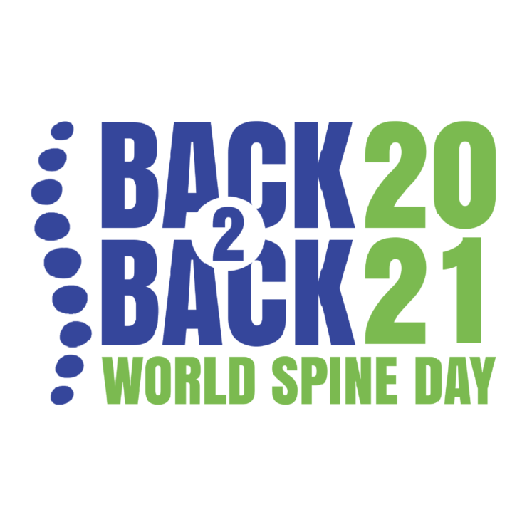 Maailman selkäpäivän logo Back2Back 2021.