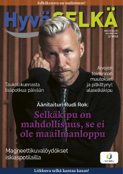 Hyvä Selkä -lehden kansikuva, Rudi Rok.