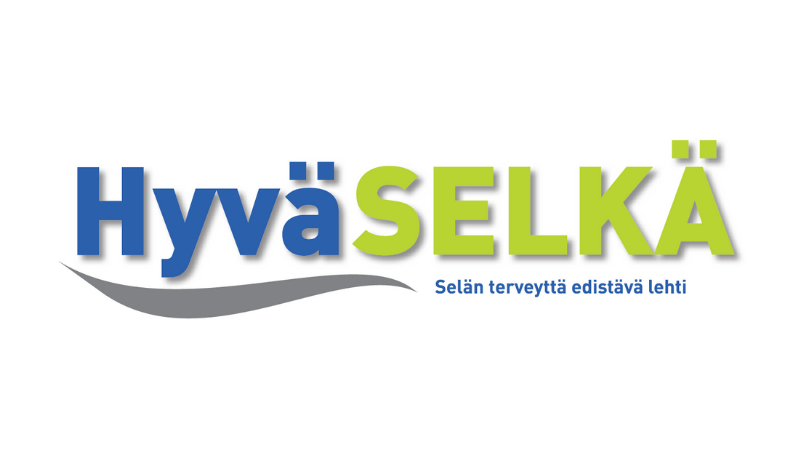 Hyvä Selkä -logoteksti.
