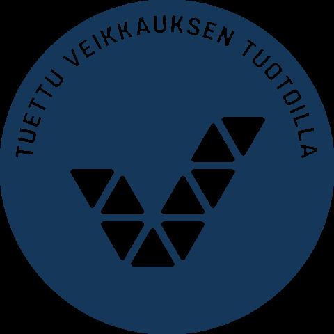 Tuettu Veikkauksen tuotoilla -logo.